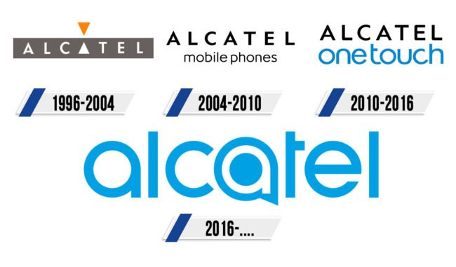 Alcatel logotipo Historia