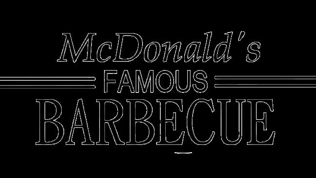 McDonald's Famous Barbecue Logotipo 1940–1948