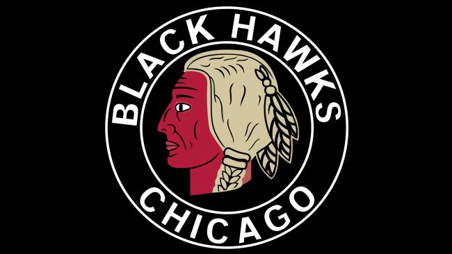 Chicago Blackhawks Logotipo 1935-1937
