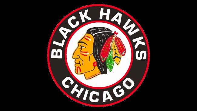 Chicago Blackhawks Logotipo 1955-1957