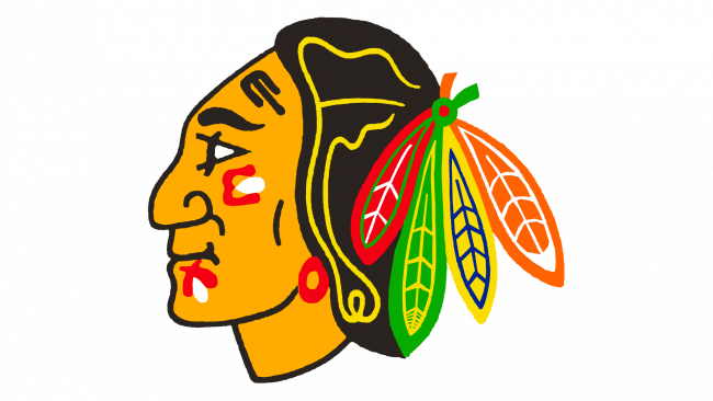 Chicago Blackhawks Logotipo 1965-1989