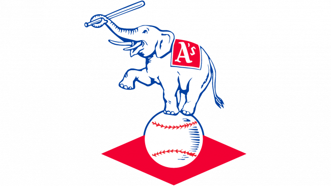 Kansas City Athletics Logotipo 1955-1967