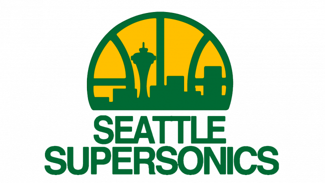 Seattle SuperSonics Logotipo 1976-1995