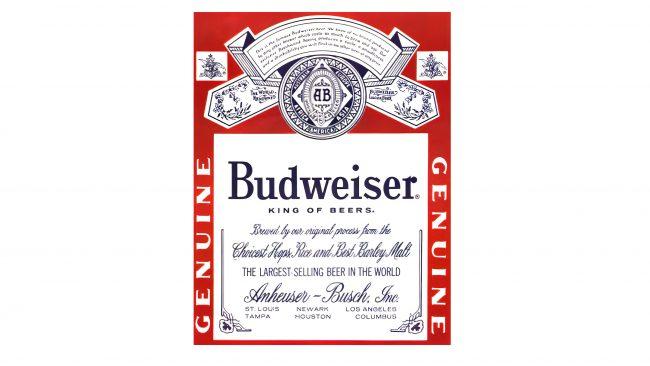 Budweiser Logotipo 1945-1987