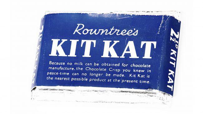 Rowntree's Kit Kat Logotipo 1945-1947