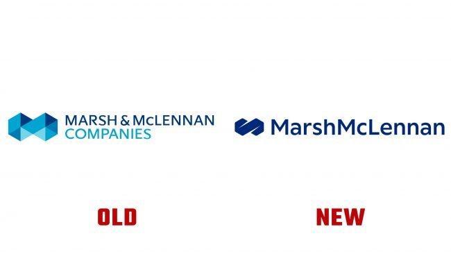 Marsh y McLennan Antiguo y Nuevo Logo