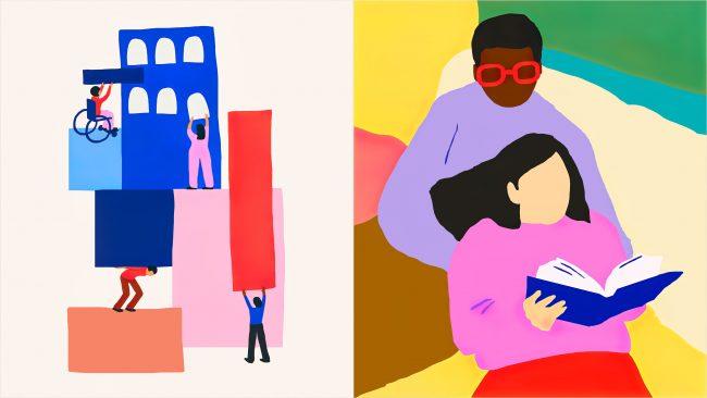 Startup de viviendas inclusivas para discapacitados The Kelsey Nuevo diseño de identidad del logotipo de Landscape