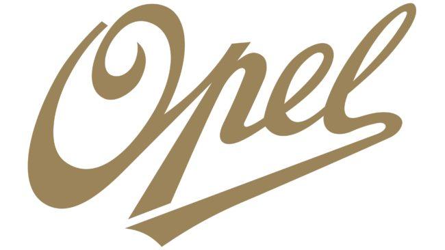 Opel Logotipo 1909-1910