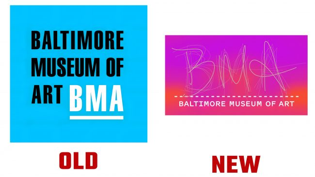 Baltimore Museum of Art Logotipo nuevo y antiguo (historia)