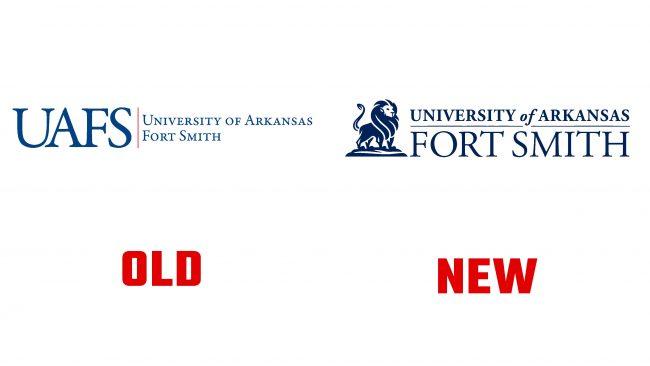 University of Arkansas Fort Smith Nuevo y Antiguo Logotipo