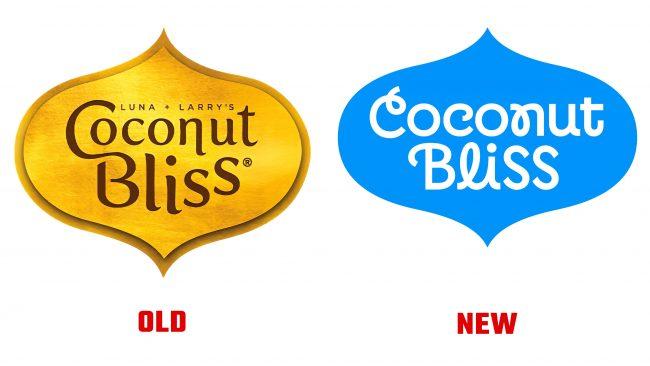 Coconut Bliss antiguo y nuevo logotipo (historia)