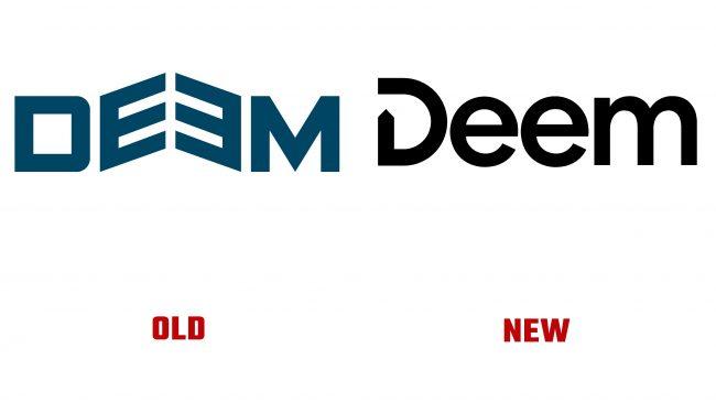 Deem antiguo y nuevo logotipo (historia)