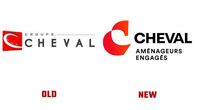 Groupe Cheval antiguo y nuevo logotipo (historia)