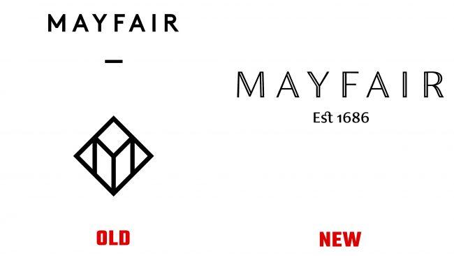 Mayfair antiguo y nuevo logotipo (historia)
