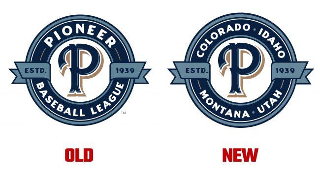Pioneer Baseball League Logo Evolución
