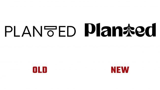 Planted antiguo y nuevo logotipo (Historia)