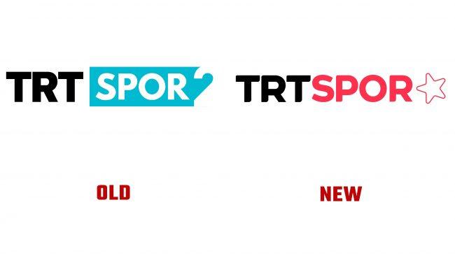 TRT Spor Yıldız antiguo y nuevo logotipo (historia)