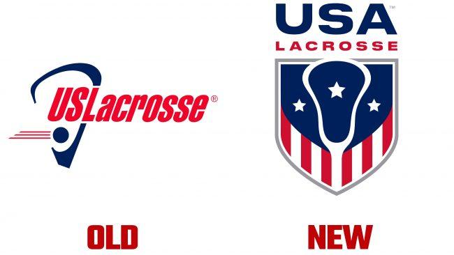 USA Lacrosse antiguo y nuevo Logotipo (historia)