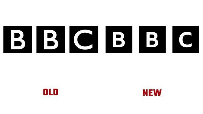 BBC antiguo y nuevo logotipo (historia)