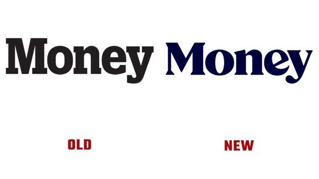Money antiguo y nuevo logotipo (historia)