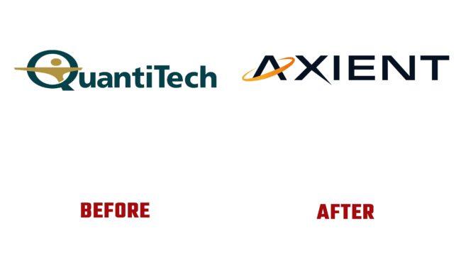 Axient Antes y Después del Logotipo (historia)