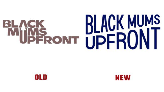Black Mums Upfront Antes y Después del Logotipo (historia)