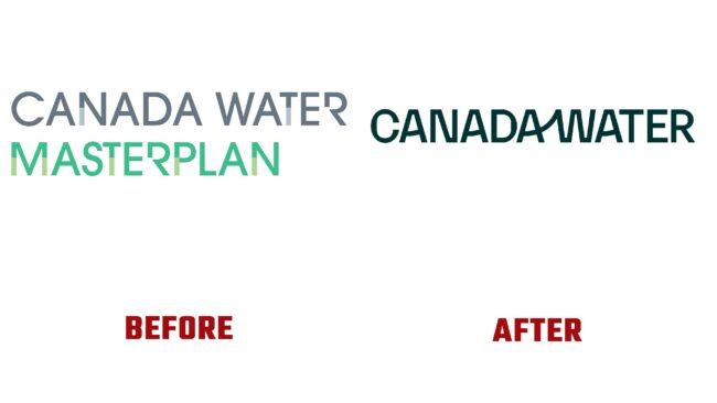 Canada Water Antes y Después del Logotipo (historia)