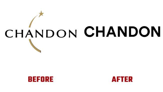 Chandon Antes y Despues del Logotipo (historia)