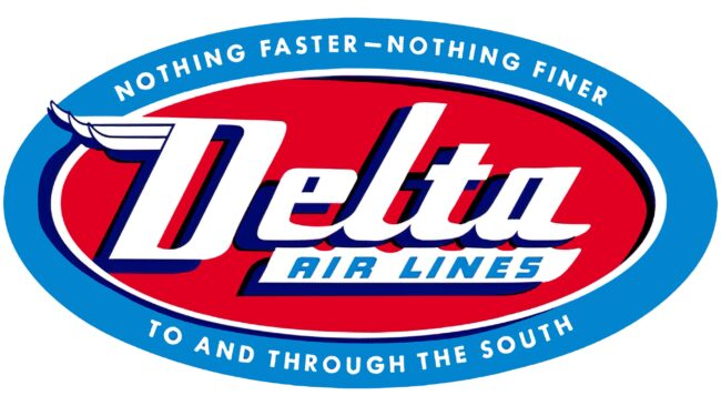 Delta Air Lines (Second era) Logotipo 1955-1959