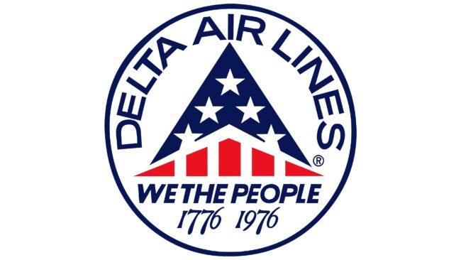 Delta Air Lines (Second era) Logotipo 1976