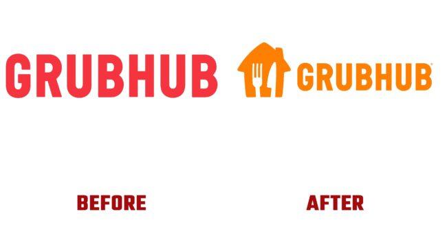 Grubhub Antes y Despues del Logotipo (historia)