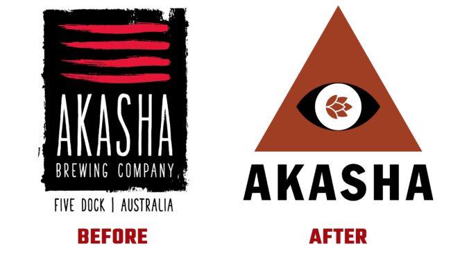 Akasha Akasha Before and After Logo (History)