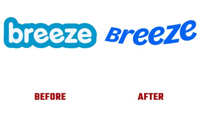 Breeze Antes y Despues del Logotipo (historia)