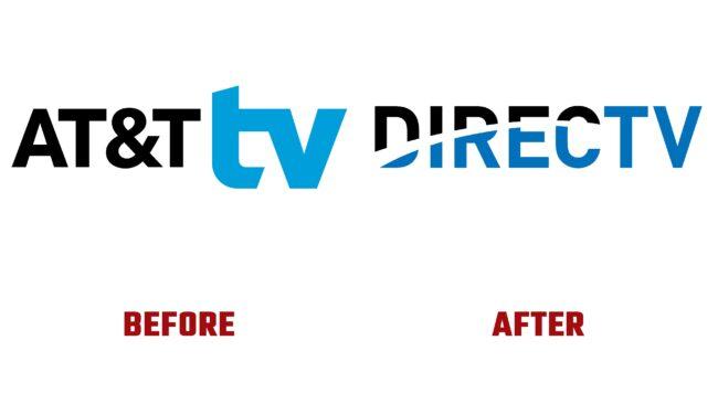 DirecTV Antes y Después del Logotipo (historia)
