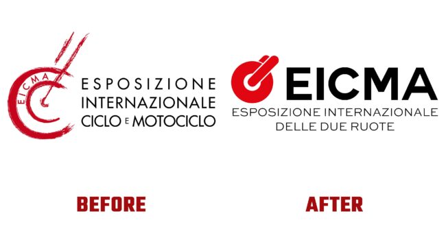 EICMA Antes y Despues del Logotipo (historia)