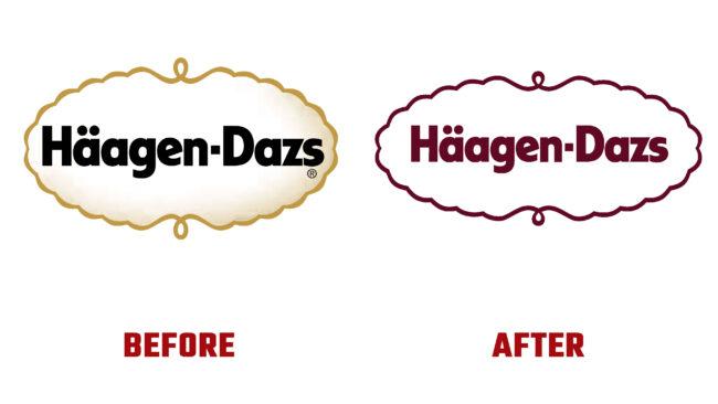 Haagen-Dazs Antes y Despues del Logotipo (historia)