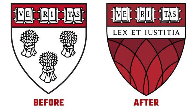 Harvard Law School Antes y Despues del Logotipo (historia)