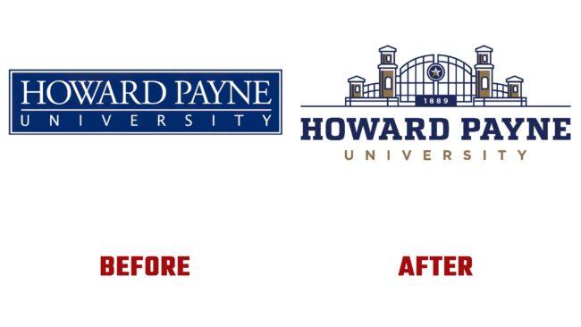 Howard Payne University Antes y Despues del Logotipo (historia)
