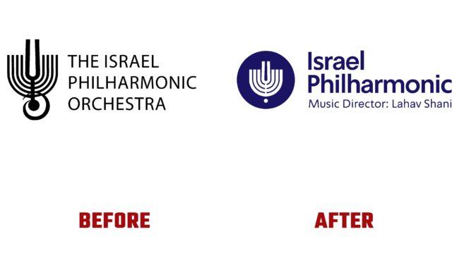 Israel Philharmonic Orchestra Antes y Despues del Logotipo (historia)