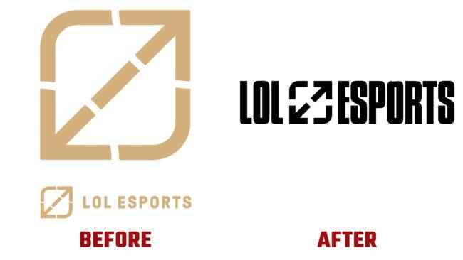 LoL Esports Antes y Después del Logotipo (historia)