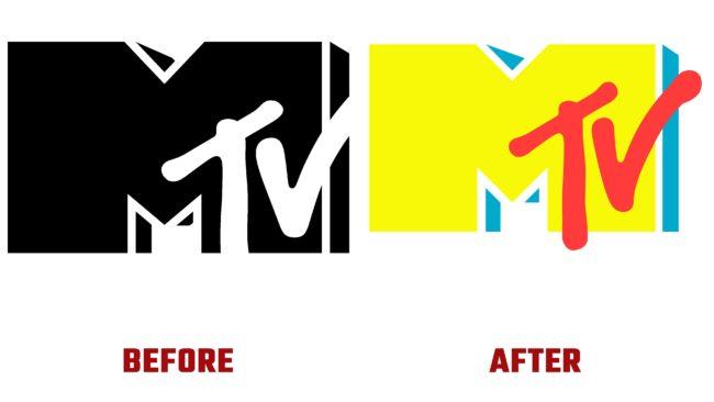 MTV Antes y Después del Logotipo (historia)