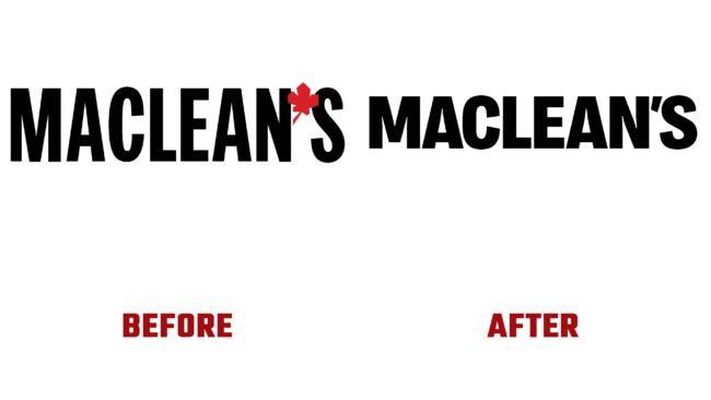 Maclean's Antes y Despues del Logotipo (historia)