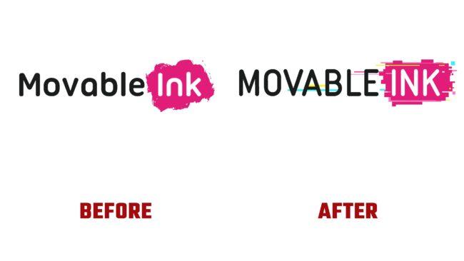 Movable Ink Antes y Despues del Logotipo (historia)