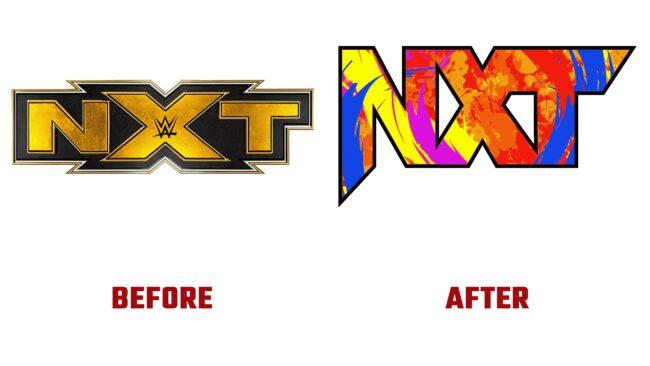 NXT Antes y Despues del Logotipo (historia)