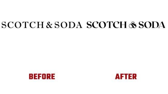 Scotch & Soda Antes y Despues del Logotipo (historia)