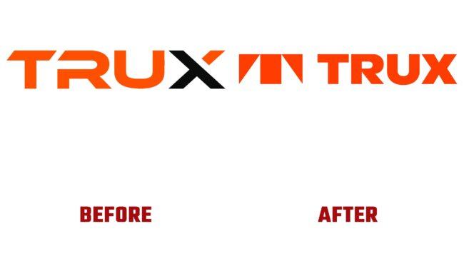 Trux Antes y Después del Logotipo (historia)