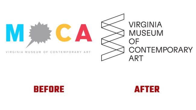 Virginia Museum of Contemporary Art Antes y Después del Logotipo (historia)