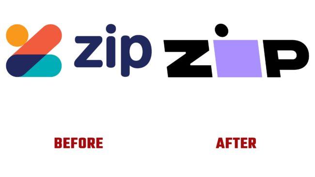 Zip Antes y Despues del Logotipo (historia)