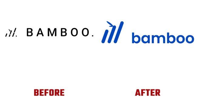 Bamboo Antes y Después del Logotipo (historia)