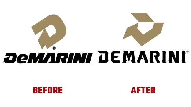 DeMarini Antes y Después del Logotipo (historia)